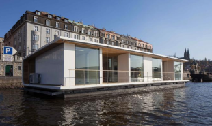 ports is a modular floating home base price is  $227.45 American dollars per unit. The price is listed in Czech money.