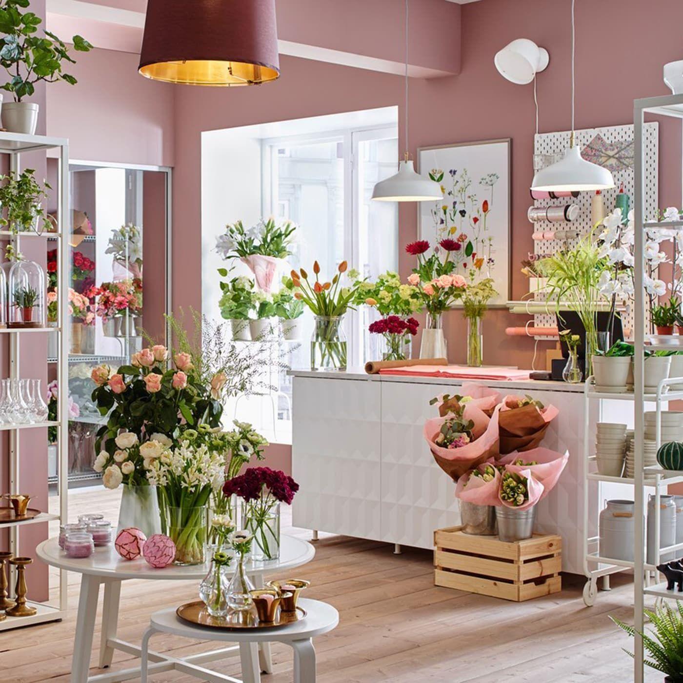 Your shelving in full bloom Shelves, White shelving unit