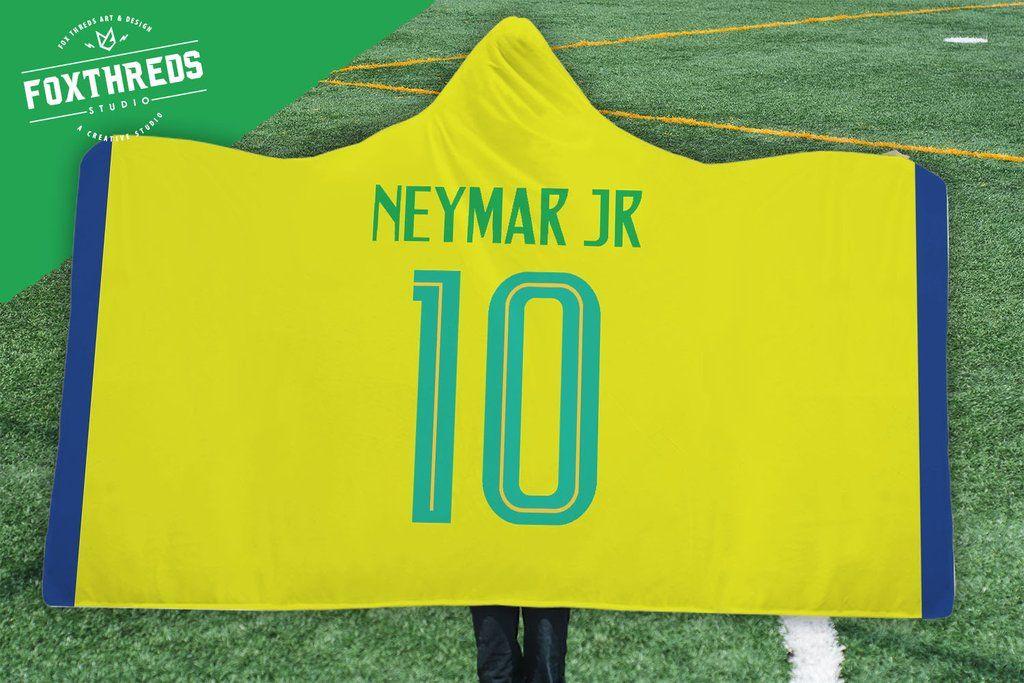 9f501b834 Neymar Junior Brazil Home Jersey 2018 Hooded Blanket - FIFA World Cup   neymar  brazil  worldcup  2018  soccer  fifa  russiaworldcup   customblanket  blanket ...