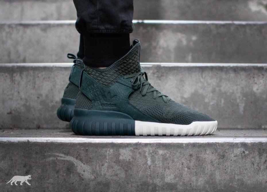 adidas originals tubular x primeknit dark green