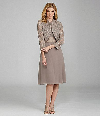 R and M Richards Lace Bolero Jacket Dress #Dillards For Mother of ...