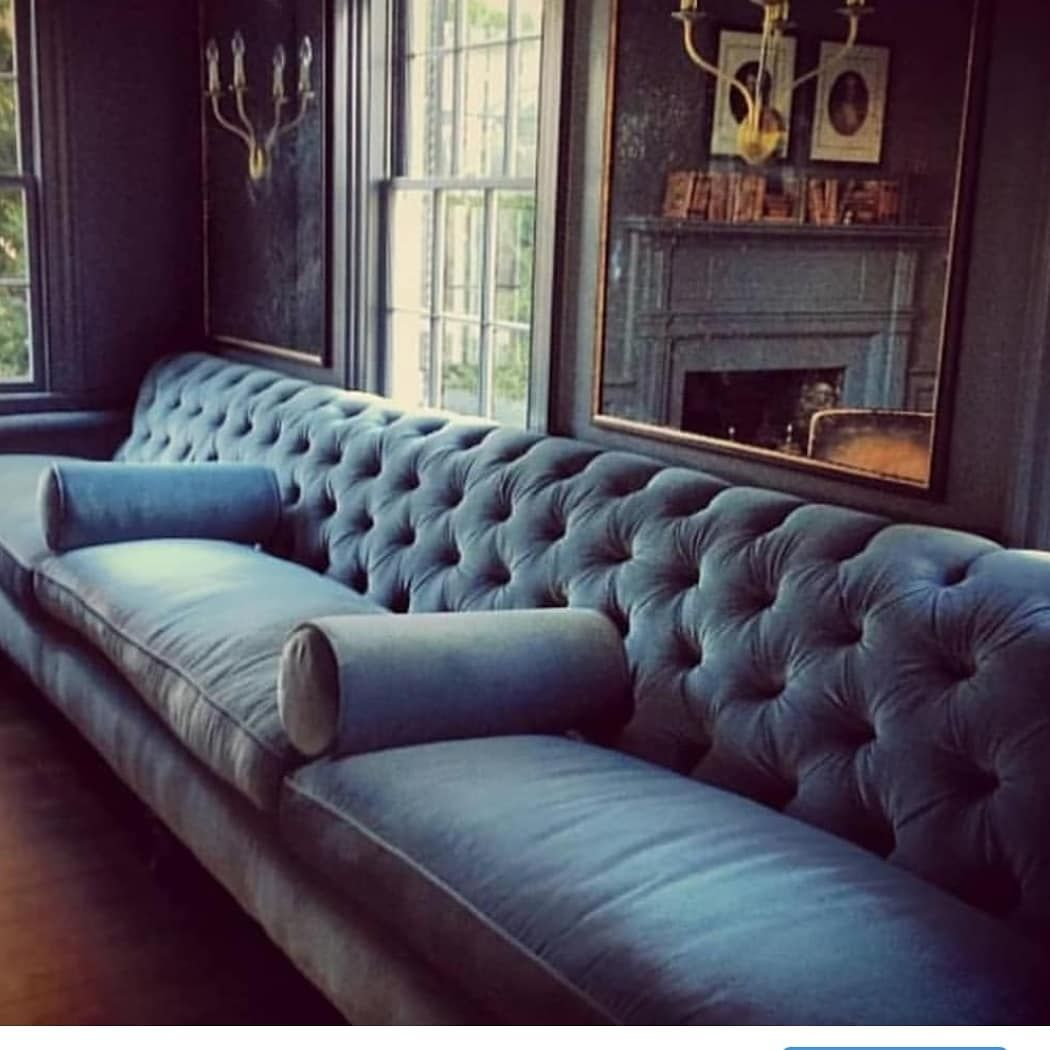 Monday Blues Of The Best Sort We Re Back To Vogue House Stunning Sofa By Gardenvarietydesign Conden Sofa Design Furniture Design Living Room Long Sofa