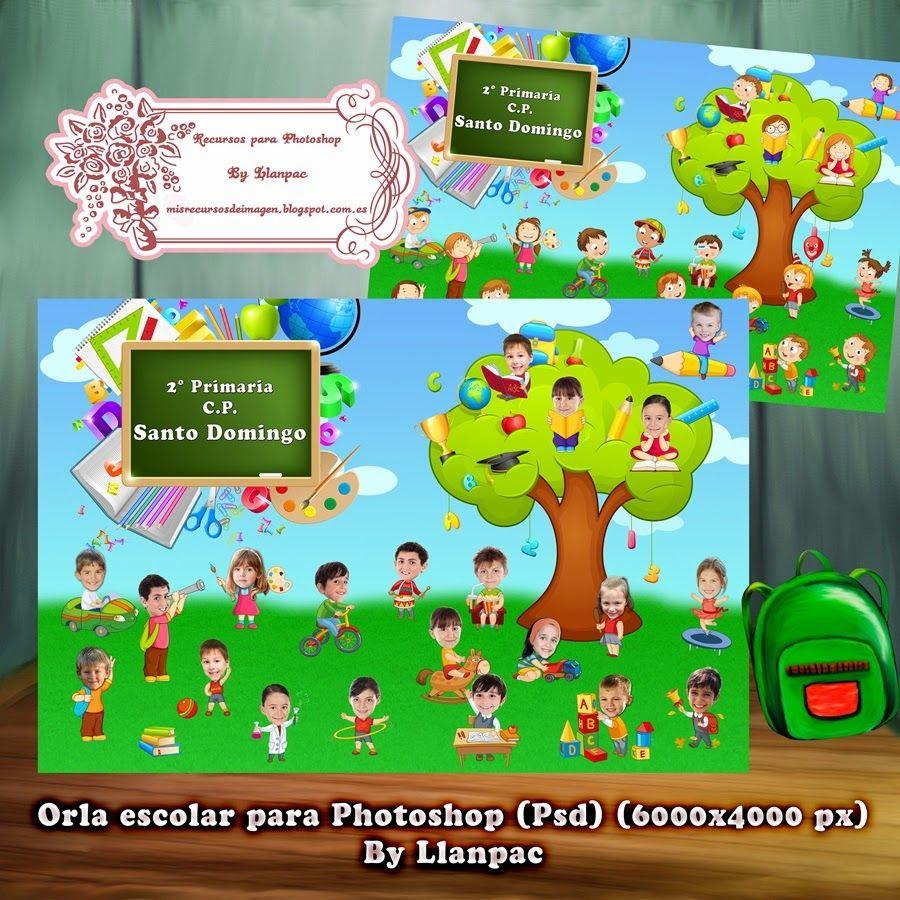 Recursos Photoshop Llanpac Orla Escolar Infantil Para Photoshop Psd Orla Infantil Photoshop Escolares