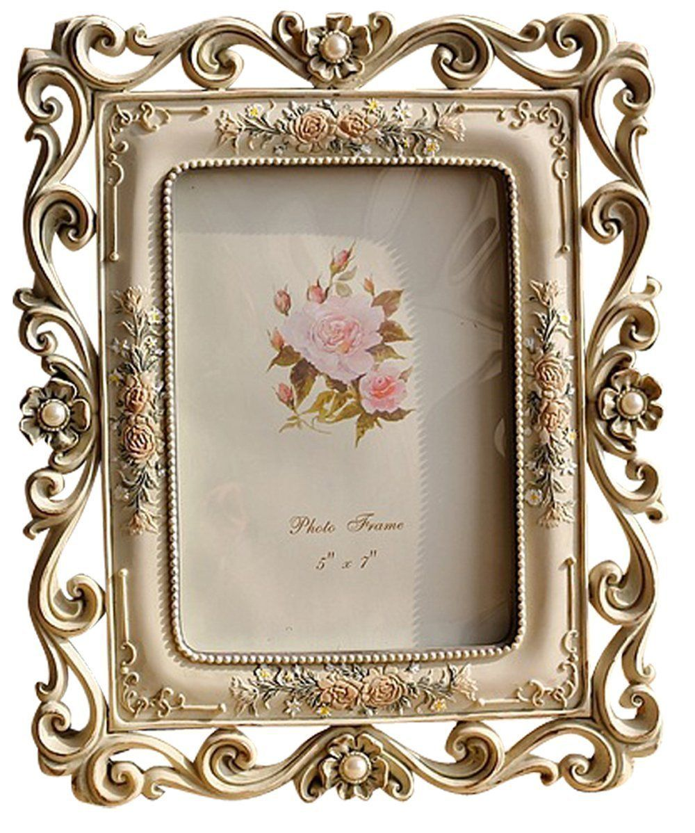 Amazon Com Classic Edging Pattern Frame Hollow Up Frame Photo Frame Picture Frame For Friend Gift Vintage Picture Frames Picture Frame Table Picture Frames