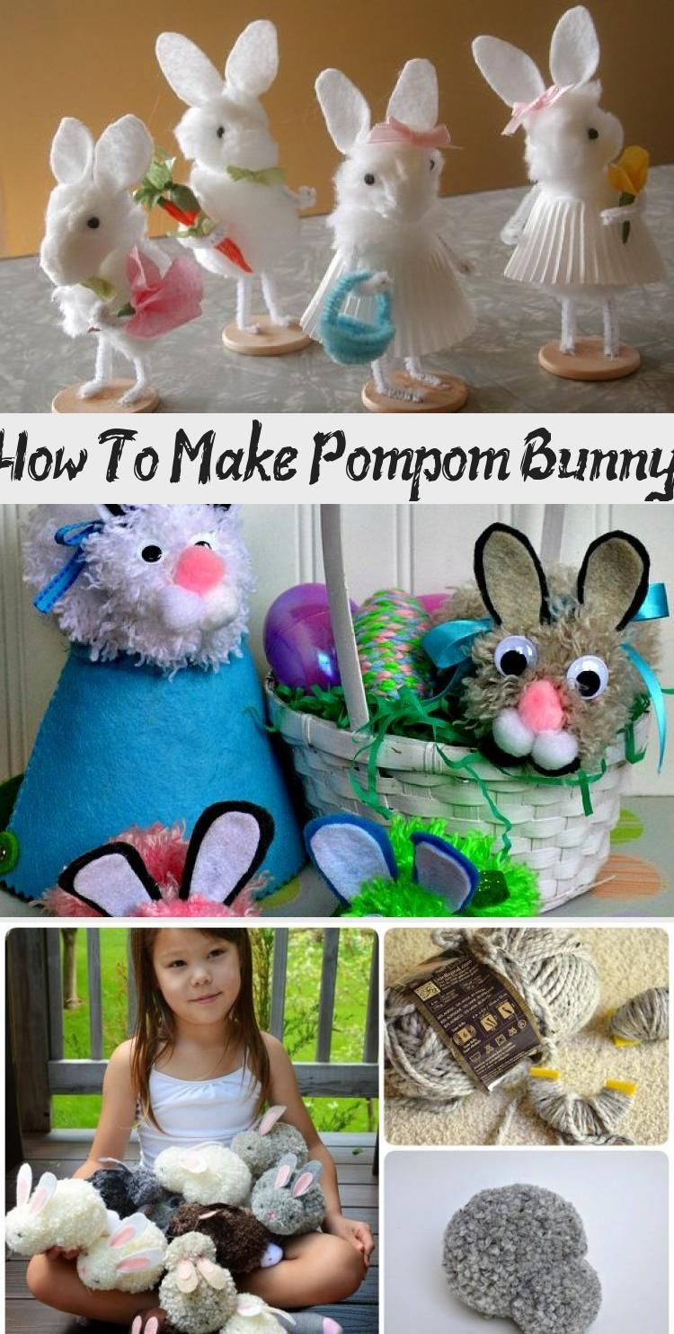 Pom Pom Easter Bunnies are easy to make and are perfect for your child's Easter basket! Just follow along this easy Pom Pom Easter Bunny craft tutorial! #Easter #Bunny #Pom-pom #Craft #easycraftsVideos #easycraftsFall #easycraftsTutorial #easycraftsChristmas #DIYeasycrafts