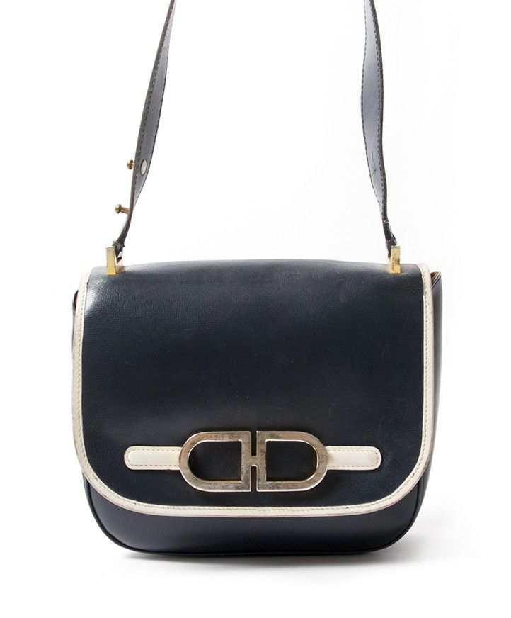 Delvaux Dark Blue Shoulder Bag secondhand authentic safe online shopping  webshop Antwerp Belgium LabelLOV fashion style labels high end brands luxury edfa2e5e0f2cc
