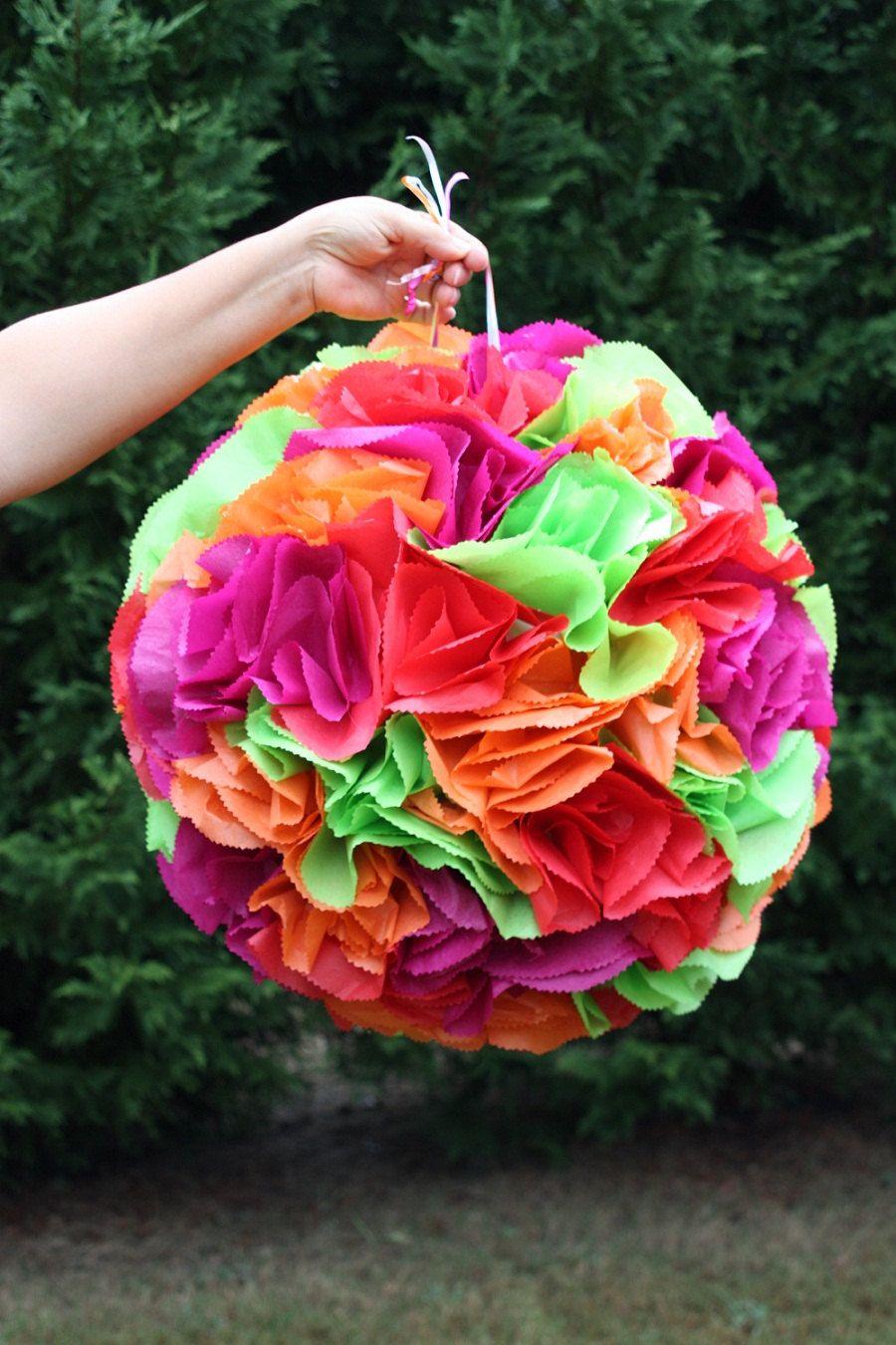 Flower Ball Pinata Pomander Wedding Decor Bachelorette Party Activity Bridal Shower