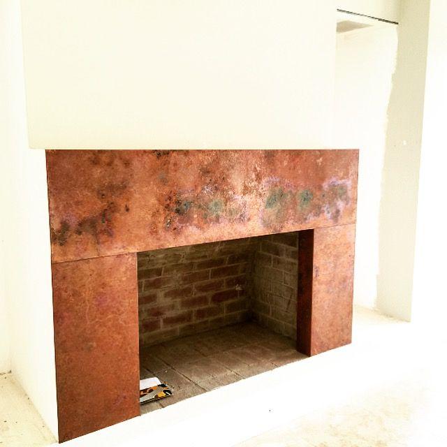 Copper Fireplace Surround By Copper By Design Perth Wa