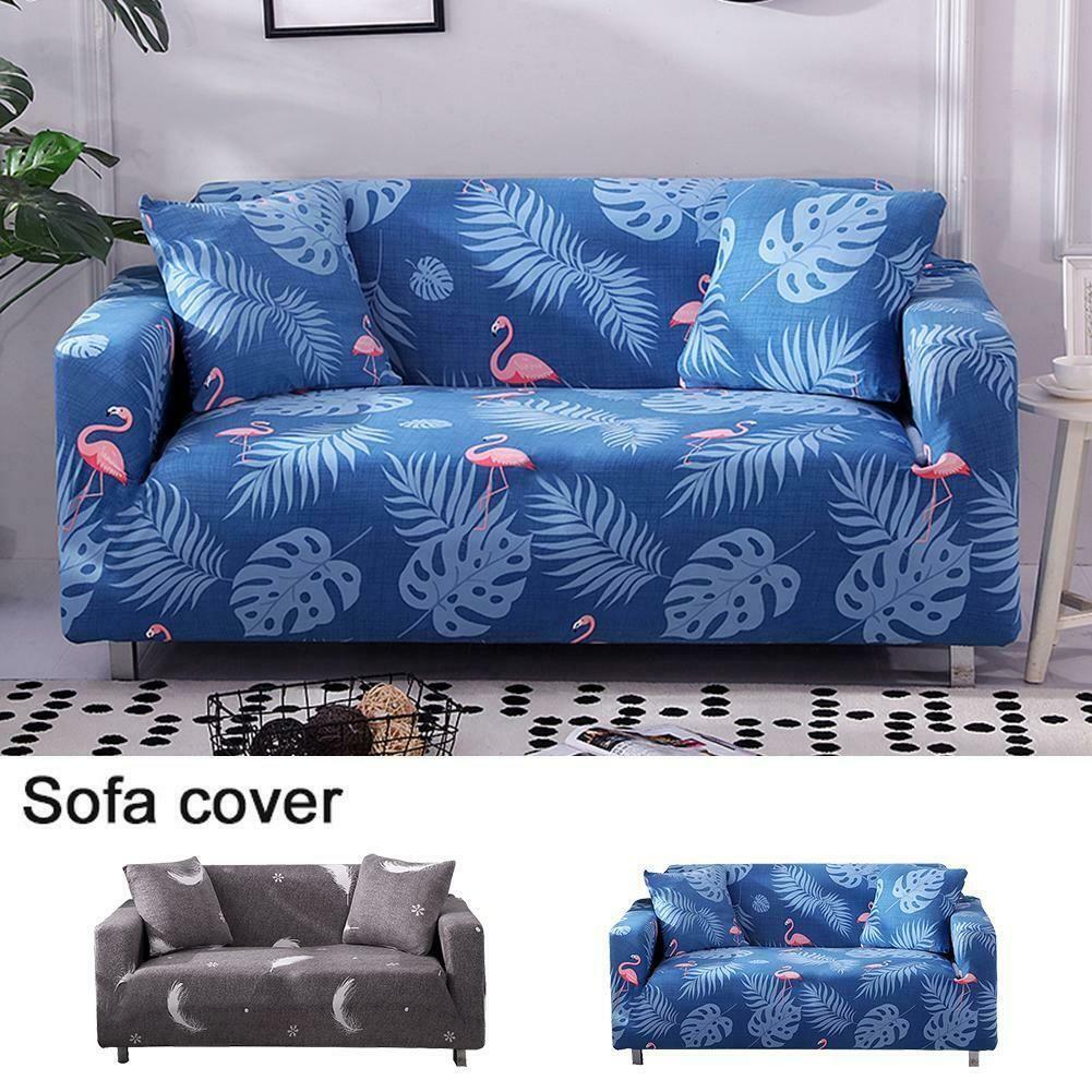 1 2 3 Seater Printed Pattern Stretch Elastic Fabric Sofa