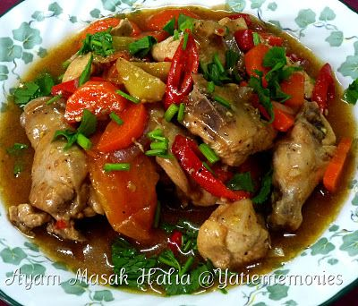 Sinar Kehidupanku Ayam Masak Halia Malaysian Cuisine Asian Cooking Cooking Recipes