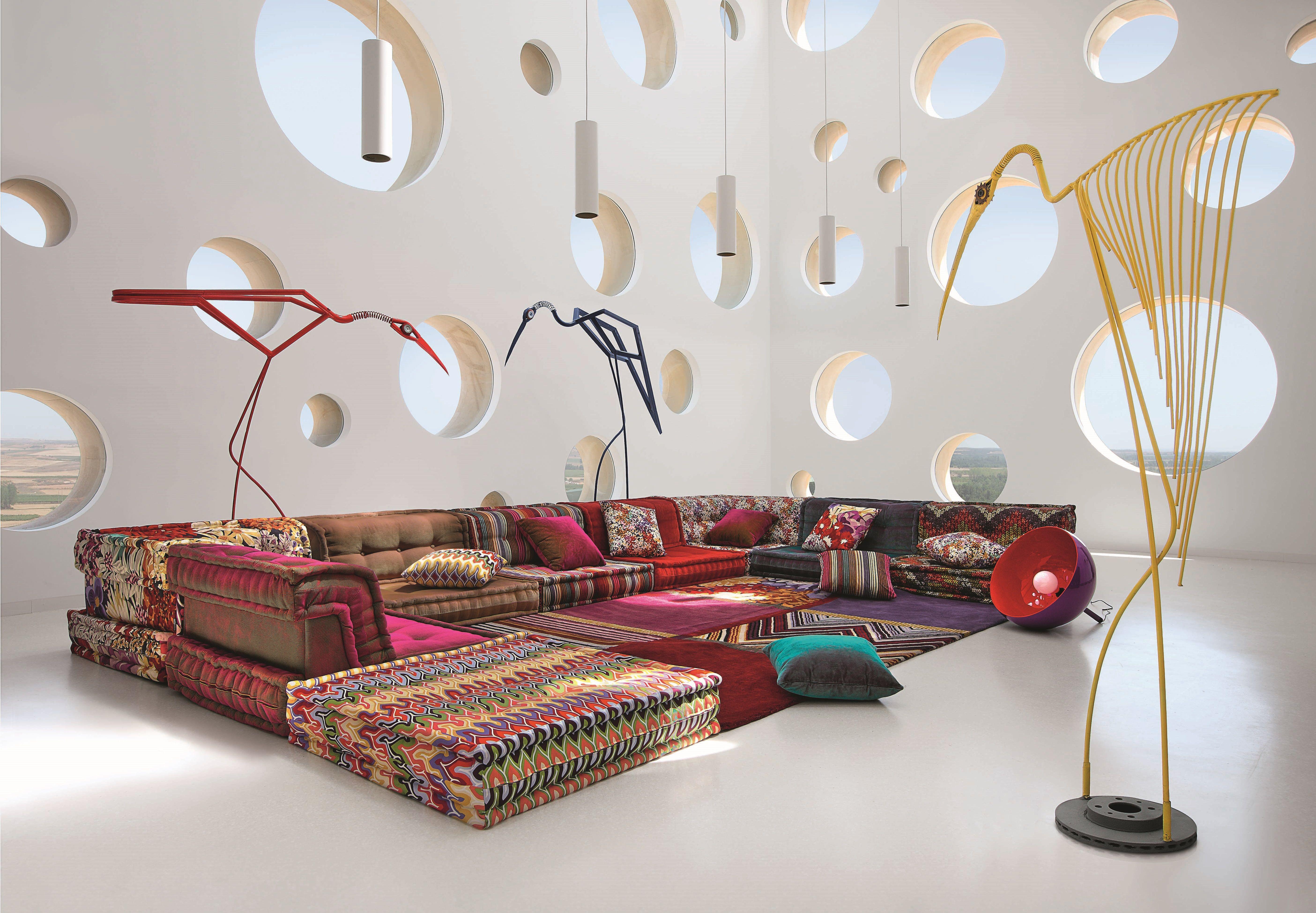 Roche Bobois Mah Jong Modular Sofa Upholstered In Missoni Home