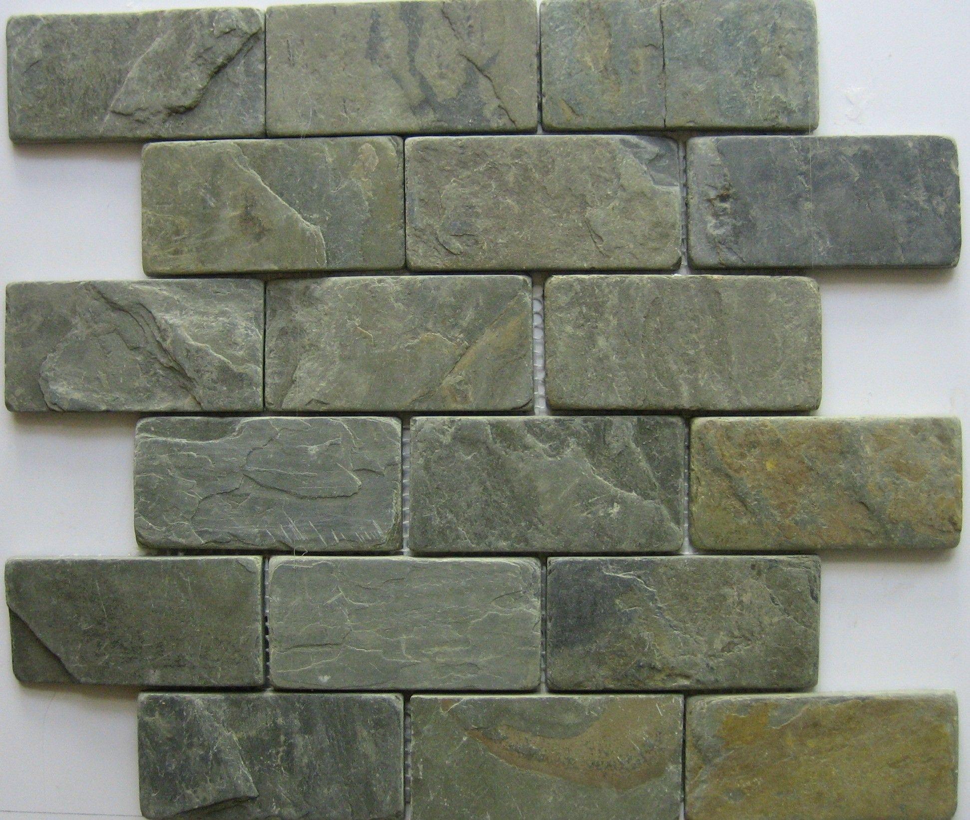 "Natural Slate-2""x4"" mosaic-California Gold"