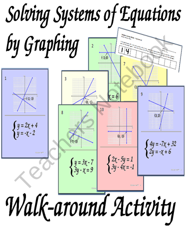 Teachers Notebook Systems Of Equations Teaching Algebra Middle School Math Teacher