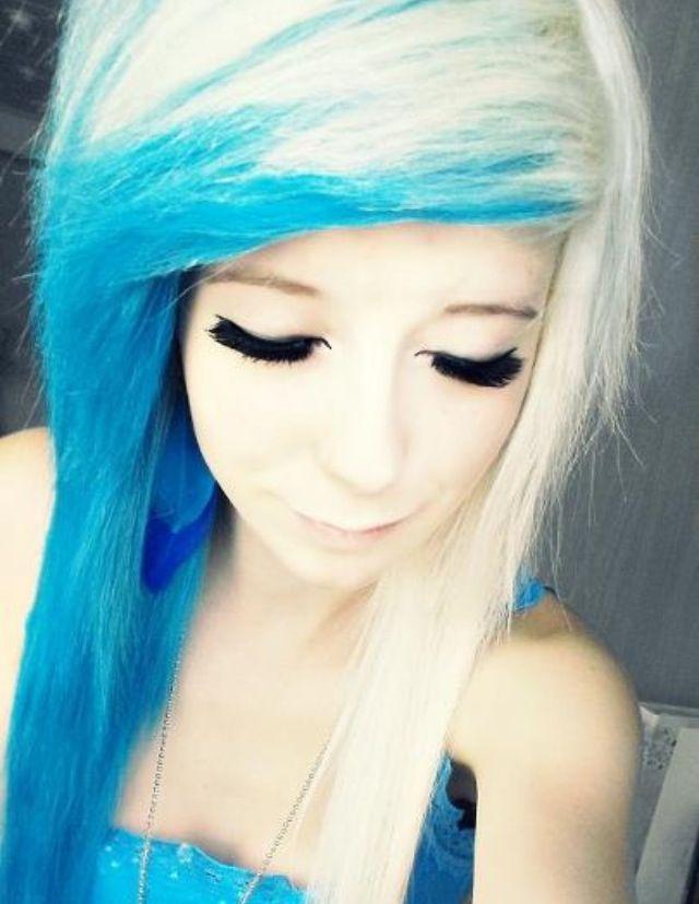 Blue And Blonde Hair Beautiful Hair Hair Hair Styles