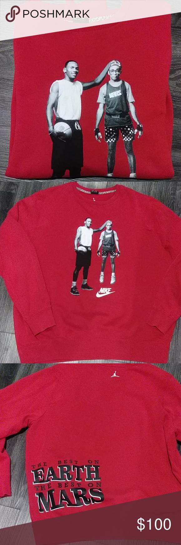 Vintage Michael Jordan Spike Lee Sweatshirt Vintage Sweatshirt Jordan Shirts Jordan Spike [ 1740 x 580 Pixel ]