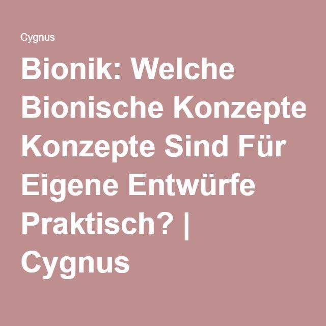 Bionik: Welche Bionische Konzepte Sind Für Eigene Entwürfe Praktisch? | Cygnus