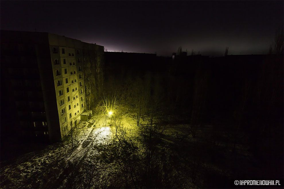 Polish Stalkers Turned The Lights On In Pripyat 31 Years After Chernobyl Nuclear Disaster Chernobyl Nuclear Disasters Lights