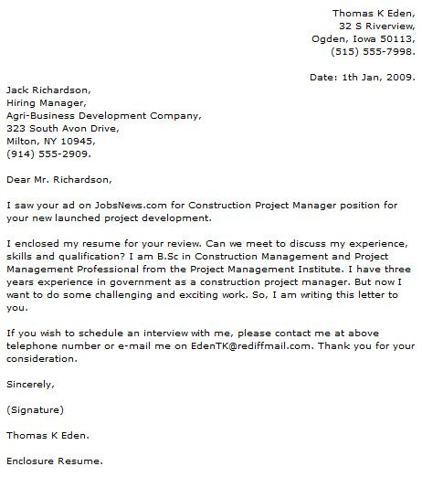Project Manager Resume Sample Office  Cover Letter Doc