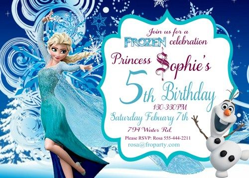 FrozenFreePrintableInvitationsTemplates Cakes Pinterest - Birthday invitation frozen theme