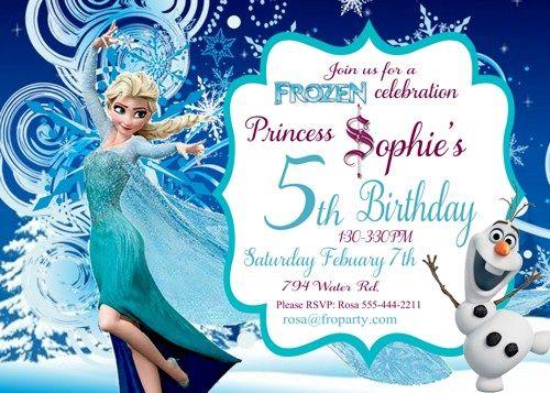 Elsa Frozen Birthday Invitation Printables Frozen Birthday Invitations Elsa Birthday Invitations Frozen Invitations