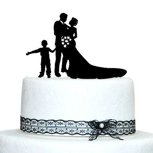 Engagement wedding cake topper family son boychild children engagement wedding cake topper family son boychild children features sweet family cake topper decoration simple and elegant perf junglespirit Image collections
