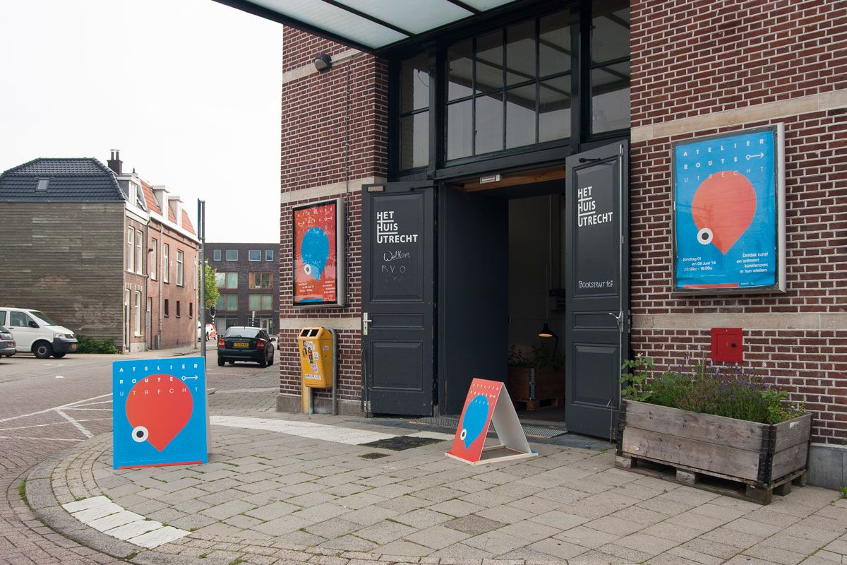 Atelier Route Utrecht 2014 identity posters signing