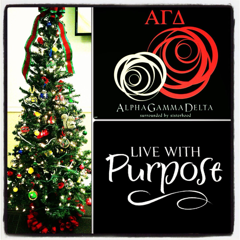Alpha Gamma Delta Christmas Tree Alpha Gamma Delta Alpha Gamma Alpha