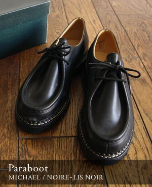size 40 36f2b 0c4d2 Paraboot Michael Noir leather. A thick-soled shoe, made with only the best