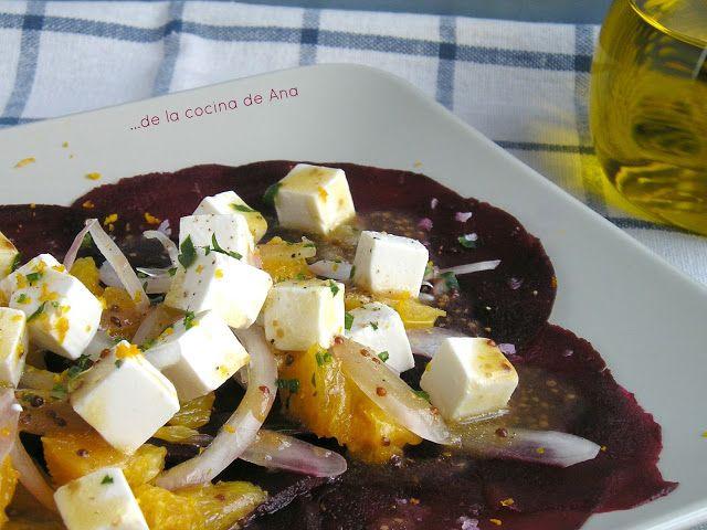 De la cocina de Ana: Carpaccio de Remolacha con Naranja y Queso Feta