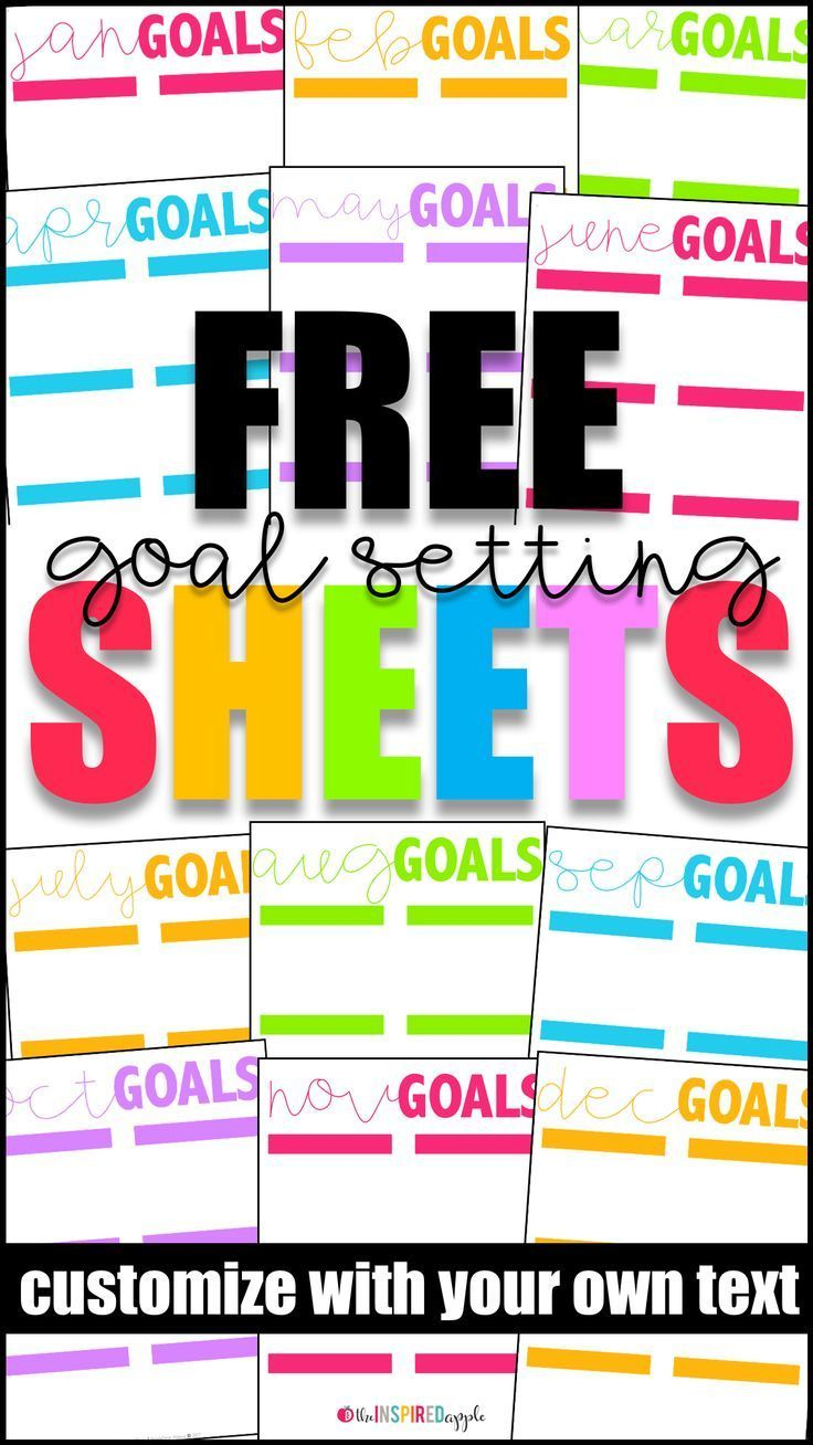 Free Download Goal Setting Worksheets Babbling Abby Goal Setting Worksheet School Goals Goal Setting For Students