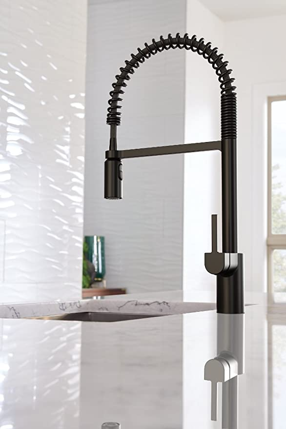Moen 5923bl Align One Handle Pre Rinse Spring Pulldown Kitchen Faucet Matte Black Amazonsmile Pulldown Kitchen Faucets Kitchen Faucet Faucet