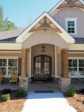Craftsman Style House Plan 58254 with 4 Bed, 3 Bath, 2 Car Garage