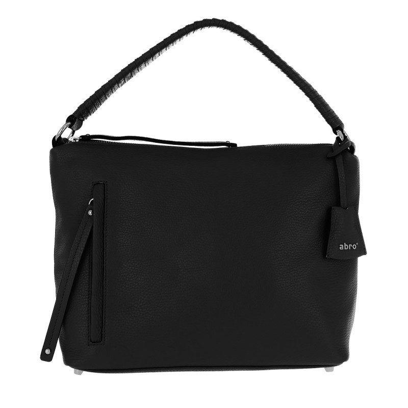 730e126cc185b Abro Abro Tasche – Adria Shoulder Bag Black Nickel – in schwarz –  Umhängetasche für