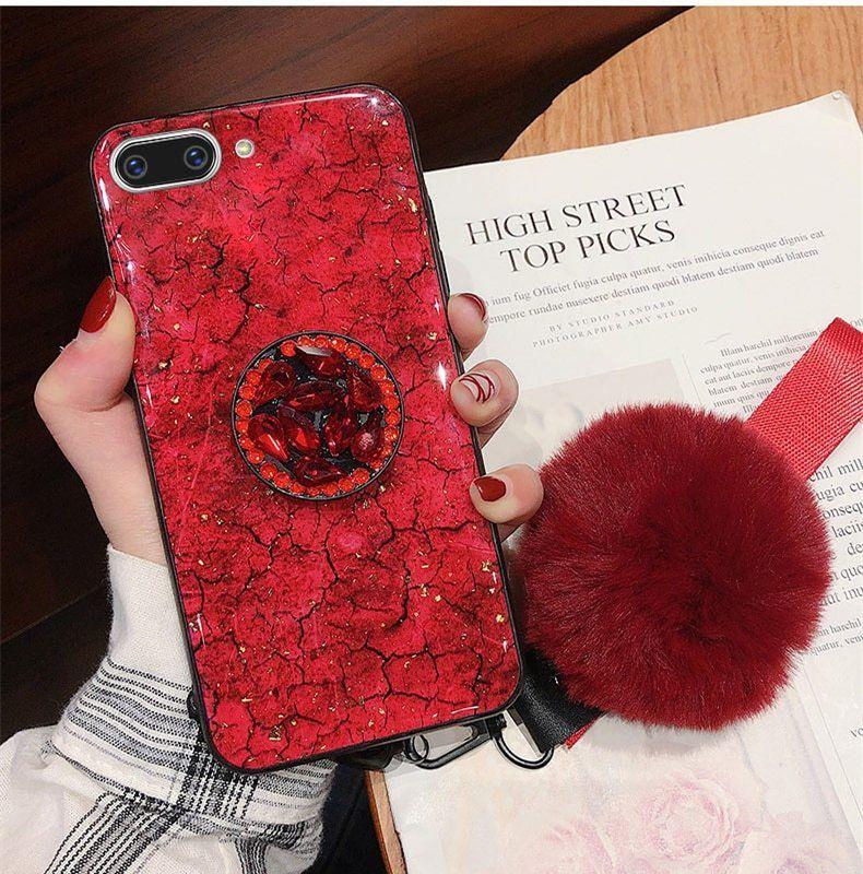 Diamond case pop socket cover phone for popsocket iphone