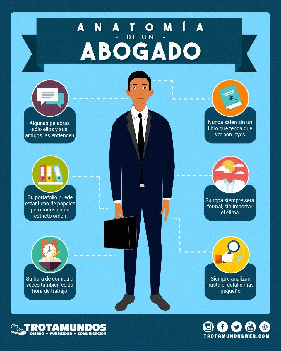 Infografía Anatomía de un Abogado Algunas razones por las que ...