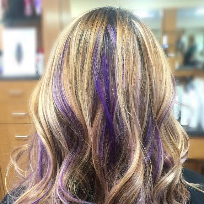 purple hair highlights blonde - Google Search | Lavender ...