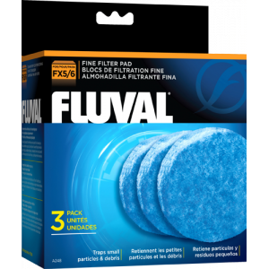 Fluval Fx4 Fx5 Fx6 Canister Filter Blue Fine Filter Pad 3 Pack Aquarium Filter Filters Aquarium