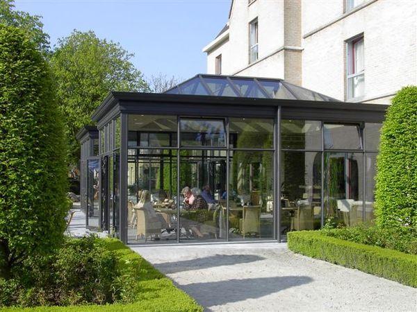 Wintergarten Englischer Stil schöne fensterform und einheitlich durchführbar an haus und