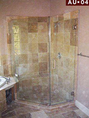 Shower Doors Houston Angle Au 04 Frameless Shower Enclosure