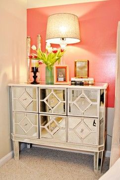 Mirrored Dresser Home Decor Glam Bedroom Mirrored Furniture