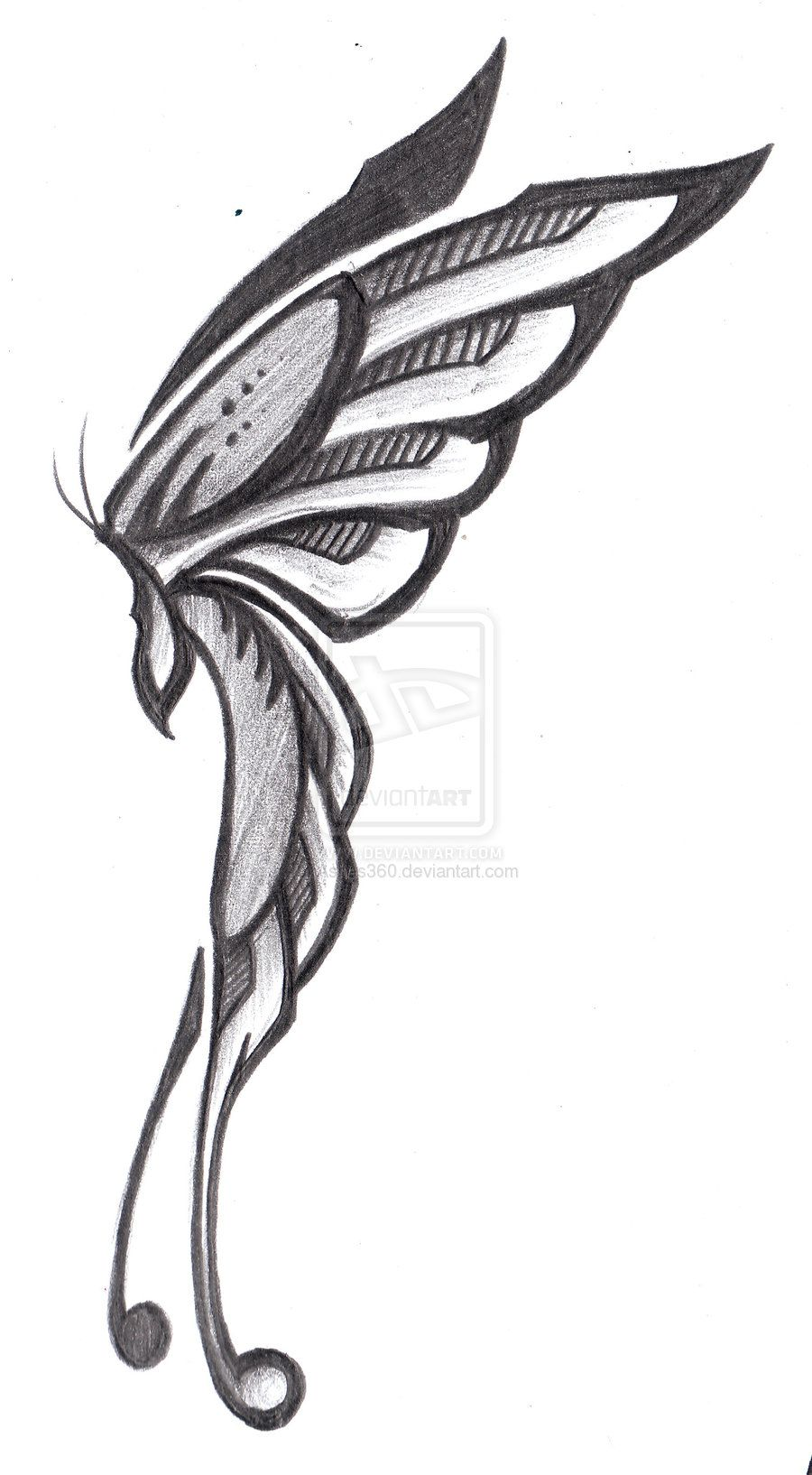 Tribal Butterfly Side View By Ashes360 On Deviantart Borboletas