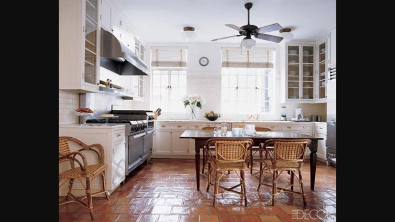 Terracotta Floors Idee Deco Cuisine Cuisines Maison Cuisine