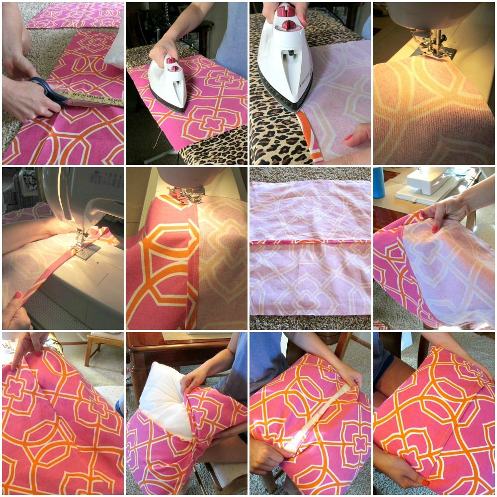 Throw Pillow Cover Pattern: DIY Envelope Throw Pillow Covers   Diy envelope  Envelopes and    ,