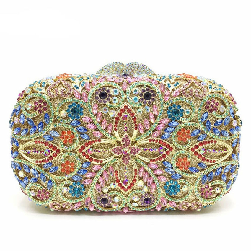 73.66$  Watch now - http://aligc5.shopchina.info/1/go.php?t=32751575645 - Top Grade Crystal Evening Clutch Bag Hard Style Makeup Bag Women Messenger Bag Handbag Shiny Rhinestone Clutch Bag  #buymethat