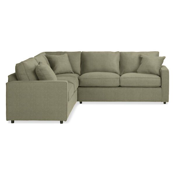Room Board York Custom 103x103 Three Piece Sectional Modern Furniture Living Room Living Room Sectional Sectional