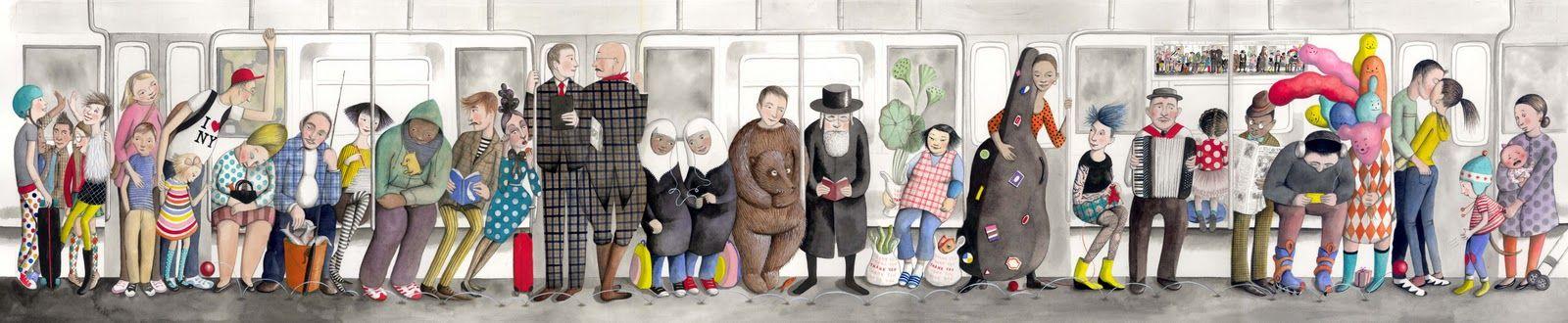 sophie on the NY Subway