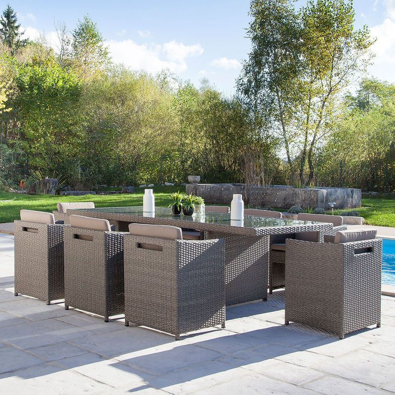 salon de jardin auchan achat salon lucca 8 places pas cher prix promo auchan ttc au. Black Bedroom Furniture Sets. Home Design Ideas