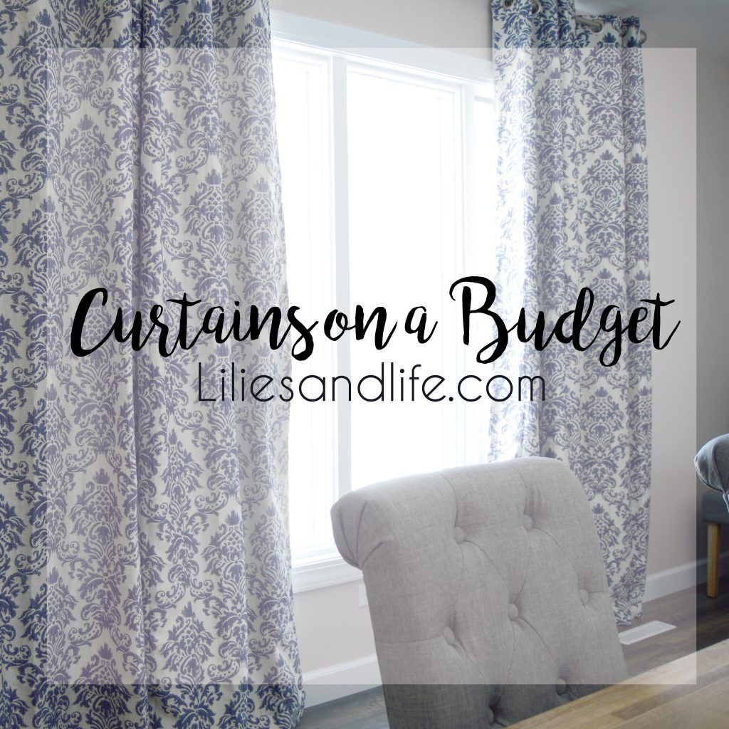 Cheap Stylish Curtains Curtains On A Budget Top Influential Bloggers Pinterest