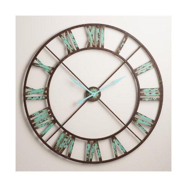 Cost Plus World Market Industrial Reed Wall Clock Farmhouse Wall Clocks Clock Vintage Industrial Decor