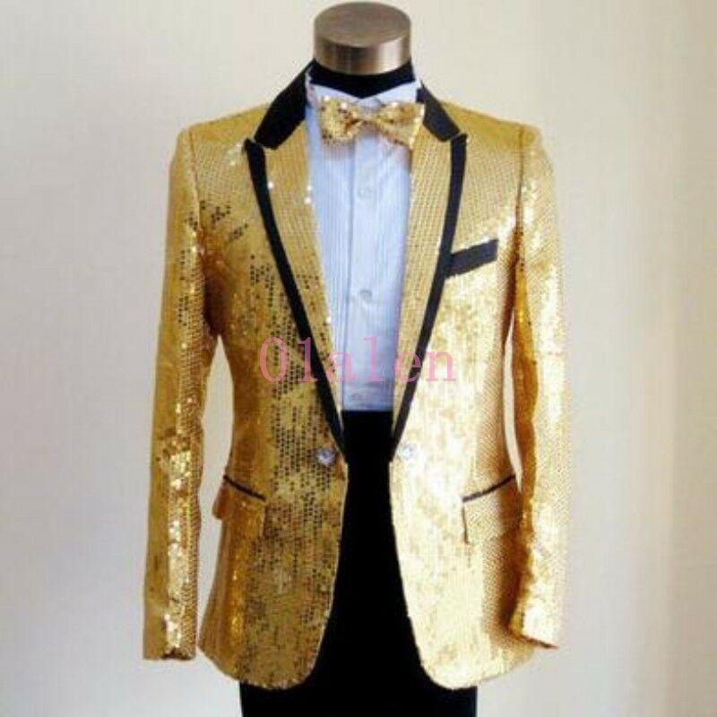 Learned Male Black Gold Court Dress Jacket Blazers Nightclub Bar Singer Costume Men Wedding Groom Host Stage Wear Slim Coat 2018 Autumn Fashionable Patterns Blazers